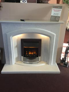 "Harriet 54"" marble fireplace with lights in Manila ex display"