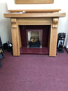 rustic solid oak full mantle suitable for woodburners/ gas stoves. 2 left in stock
