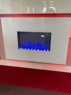 Ex Display Gazco Radiance 80w with white glass frame